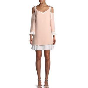 Nanette Lepore Cold-Shoulder Layered Shift Dress
